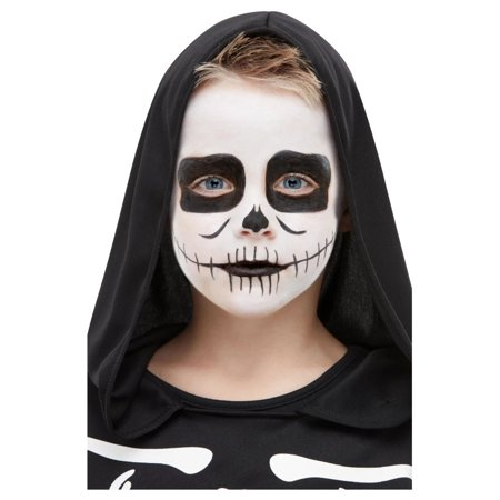 Halloween Costume Makeup Games (Black and White Skeleton Kit Unisex Halloween Makeup Costume)