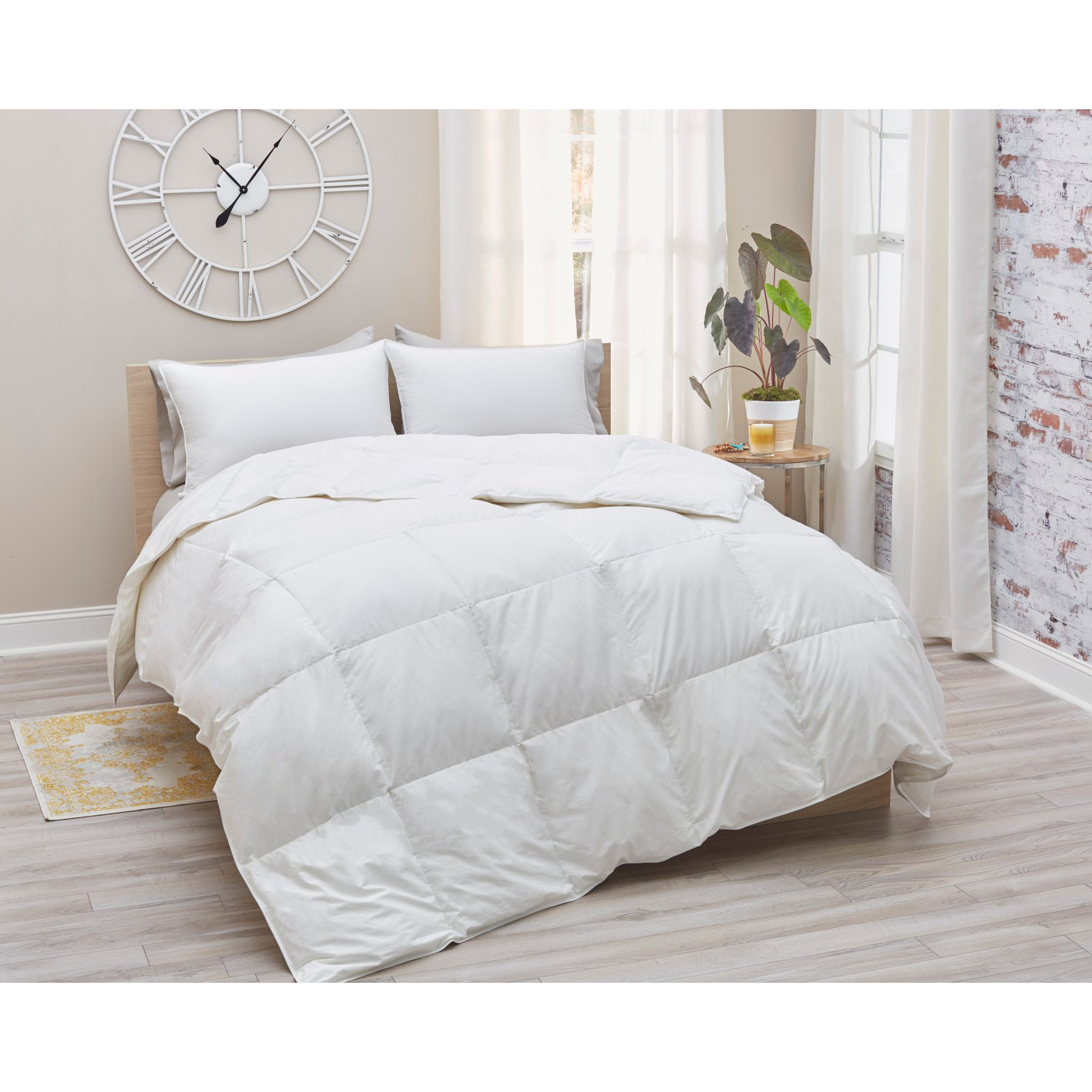 Amberly Bedding European White Goose Down Comforter - Summer Weight - King