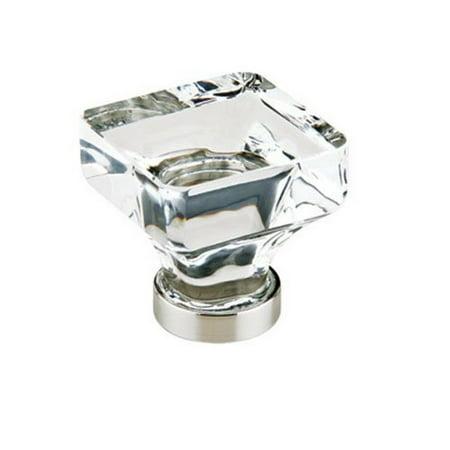 0.375 Square Knob - Emtek 86404US26 Crystal 1 3/4