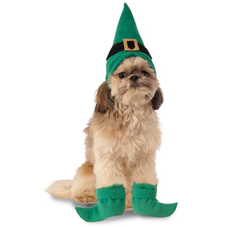 Leprechaun Elf Pet Dog Cat Christmas St Patricks Day Boot Cuffs Hat