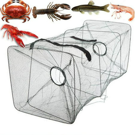 - Portable Fishing Bait Foldable Net Trap Cast Dip Cage Crab Fish Minnow Crawdad Shrimp