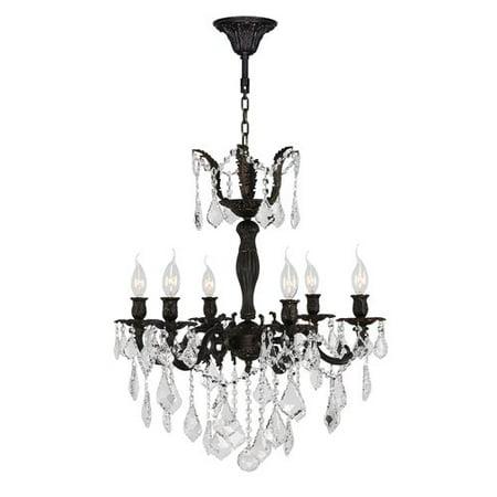 Worldwide Lighting Versailles 6-Light Crystal (Versailles Rock Crystal)