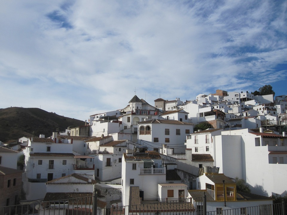 LAMINATED POSTER Houses Spain Andalusia Air Mountain White Houses Poster Print 24 x 36 by