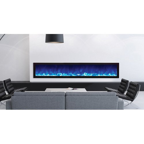 Amantii Panorama Slim Electric Wall Mount Outdoor Fireplace by New Energy Distributing Inc