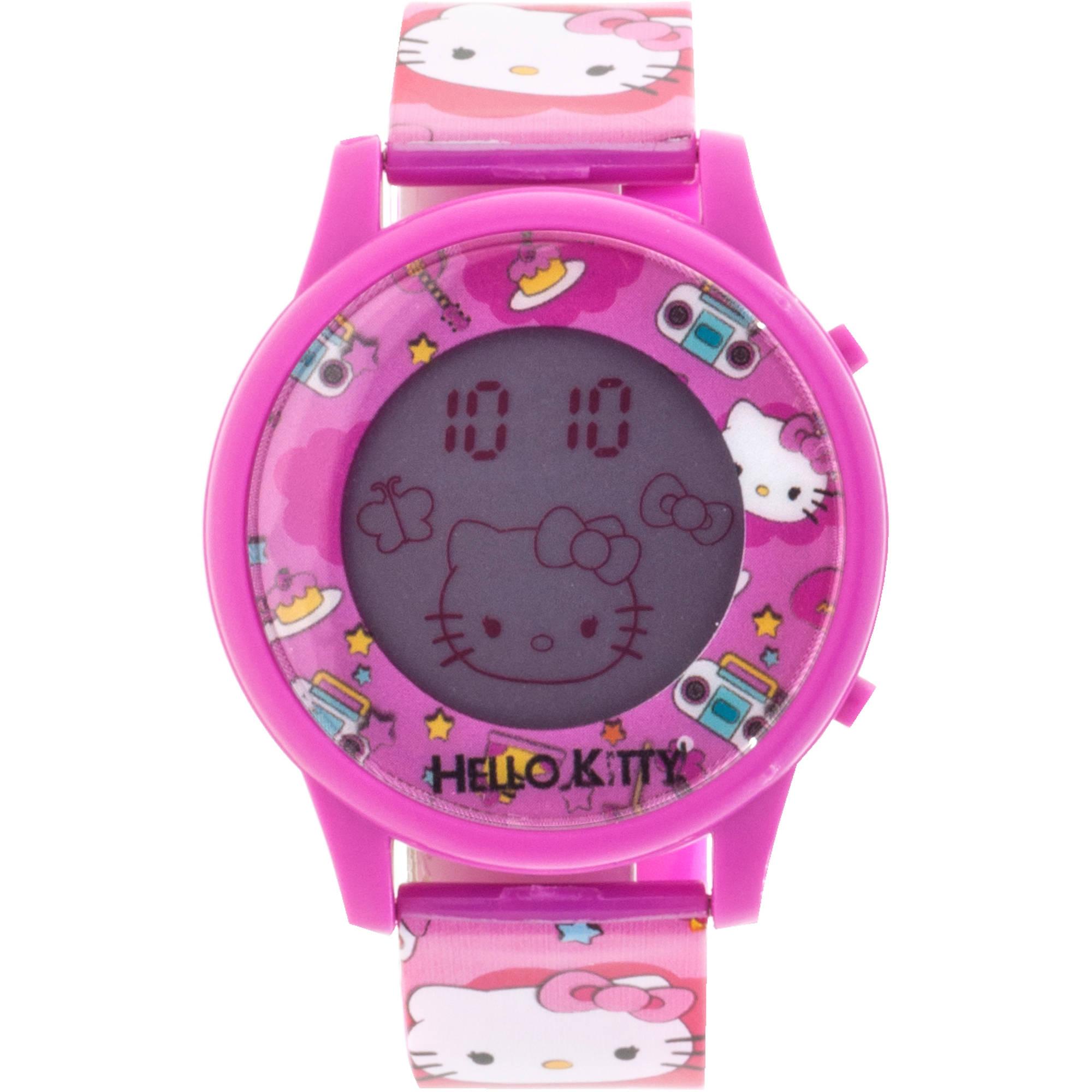 Hello Kitty Girls LCD Animation Watch