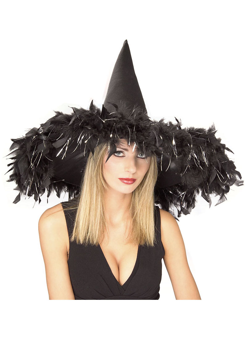 Ciang 4 Packs Womens Witch Hat Halloween Costume Black Spider Web Hat for Halloween Accessories
