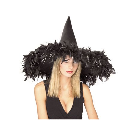Black Feather Witch Hat Rubies 49518, One Size