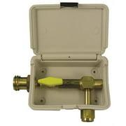 MEC Gas Outlet Box, Single, Ivory