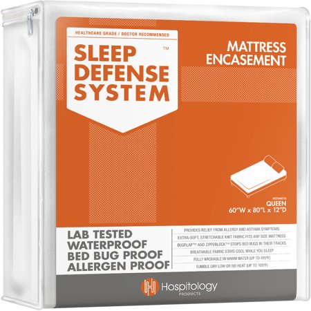Twin Cooling System - Sleep Defense System by Hospitology - Waterproof / Bed Bug Proof Mattress Encasement