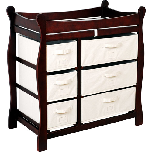Badger Basket Changing Table with Six Baskets, Cherry by Badger Basket