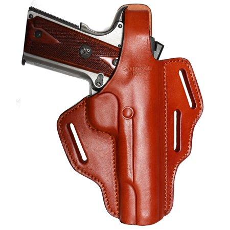 Garrison Grip Full Grain Tan Italian Leather 2 Position Plus Cross Draw Tactical Holster For All Standard 1911
