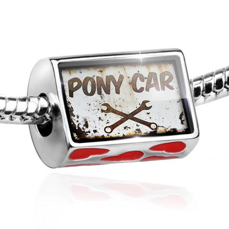 Bead Rusty old look car Pony car Charm Fits All European - Pony Bead Bracelets