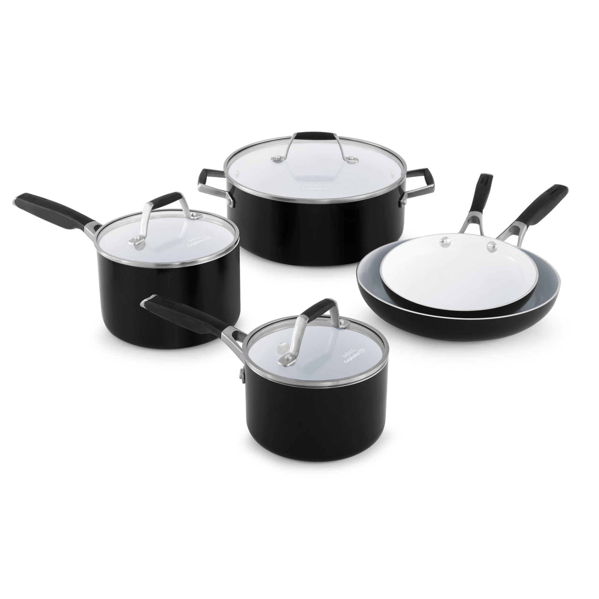 Select by Calphalon Ceramic Nonstick 8 Piece Set, 1.0 CT