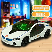 LED Light Car Toys Electronics Flashing Lights Music Sound Car Play Vehicles Toys For Children Boys, Kids Gift - 3 to 12 Years (Size:7.87x3.54x1.97 inch)