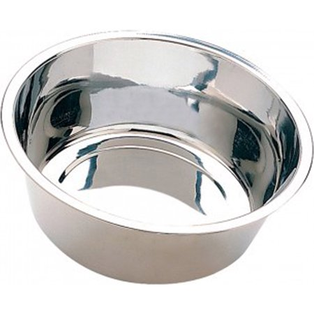 Ethical Ss Dishes-Stainless Steel Mirror Pet Dish- Stainless Steel 5 Quart Stainless Steel Mirror Pet Dish