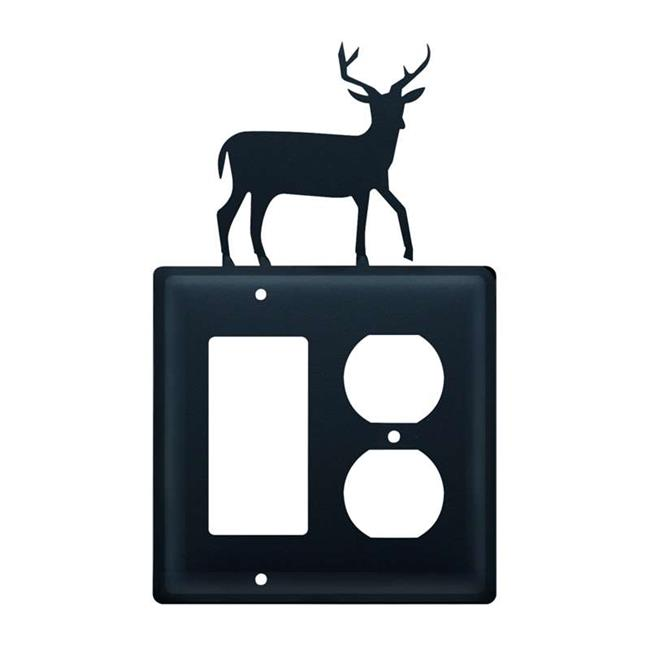 Village Wrought Iron EGO-3 Single GFI & Outlet - Deer