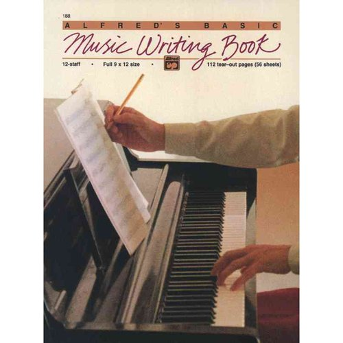 Alfred's Basic Music Writing Book: 12-Staff - Full 9 x 12 Size