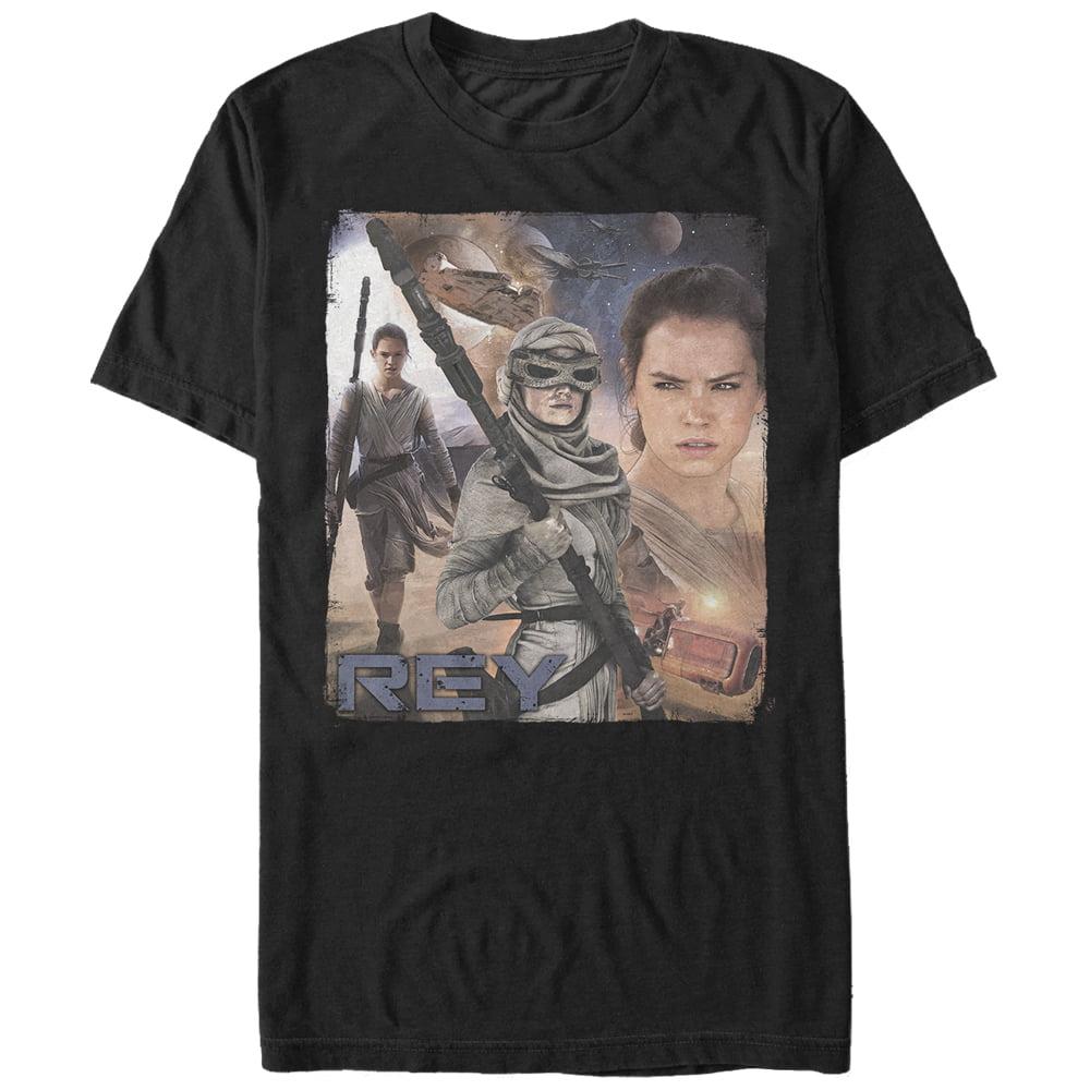Star Wars Rey Collage Mens Graphic T Shirt