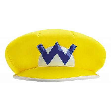 Mario and Luigi Adult Costume Accessory Wario Hat (Mario And Luigi Party Hats)