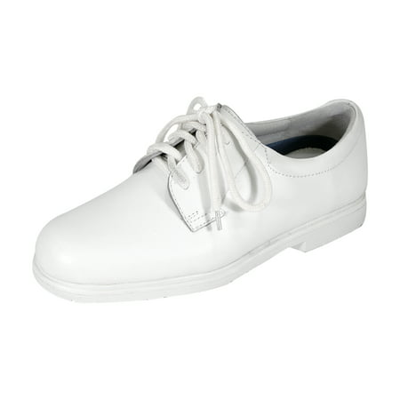 24 HOUR COMFORT Louis Wide Width Comfort Shoes For Work and Casual Attire WHITE 7
