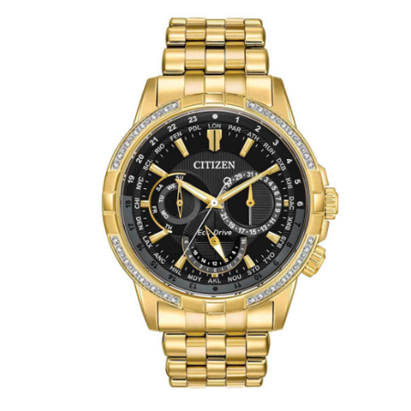 new style db5b0 dbf28 Citizen BU2082-56E Calendrier Men's Watch Gold 44mm Stainless Steel
