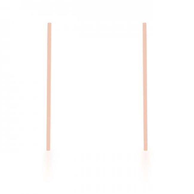 Carolee Rose Gold Stainless Steel Long Line Drop Earrings - image 1 de 1