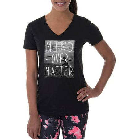9b3186ad0 Danskin Now - Women's Active Fitspiration Short Sleeve Graphic V-Neck  T-Shirt - Walmart.com