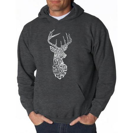27cfb697b48414 Los Angeles Pop Art - Men s Hoodie - Types of Deer - Walmart.com