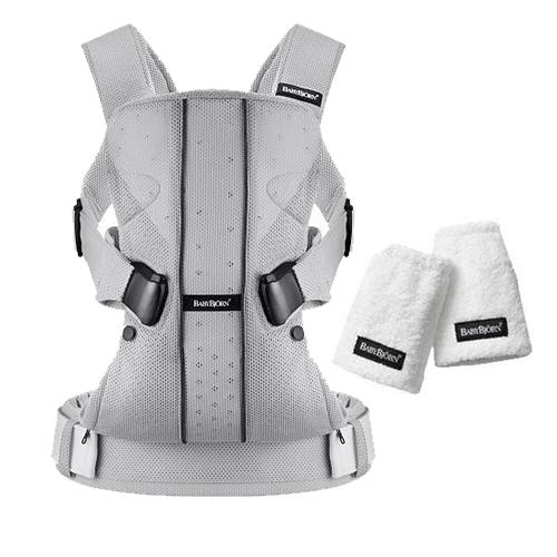 Baby Bjorn 0930004USK Baby Carrier One Air With Teething Pads Silver by BabyBj%C3%B6rn
