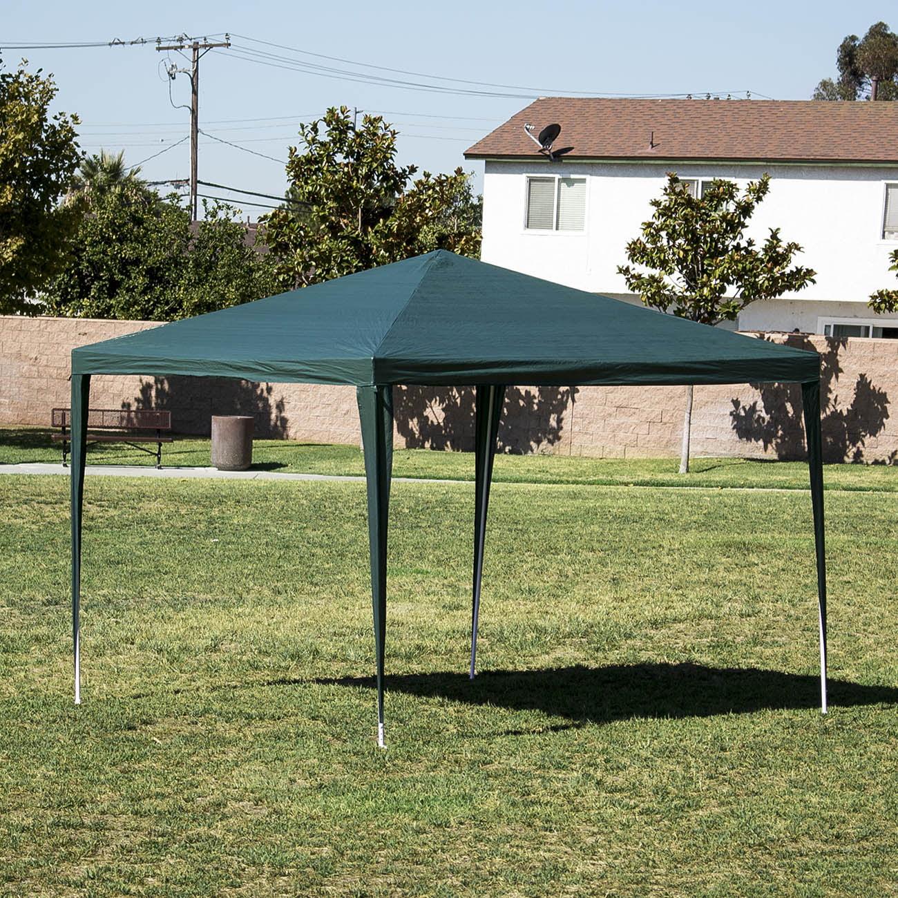 Belleze 10'x10' Commercial Party Tent Gazebo Canopy Event Wedding Outdoor Backyard, Green