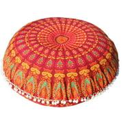 Large Mandala Floor Pillows Round Bohemian Meditation Cushion Cover Ottoman Pouf Household Supplies