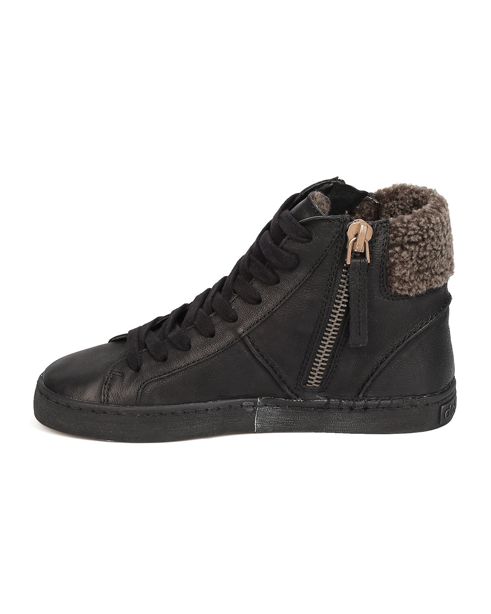 Details about  /New Women Dolce Vita Zola Leather Lace Up Zippered Shearling Lined Sneaker