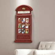 Southern Enterprises Benson Phone Booth Wall-Mount Photo Frame, Red