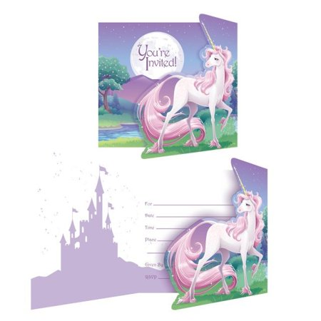 Access Unicorn Fantasy Invitation Card, 8 Ct - Unicorn Party Ideas