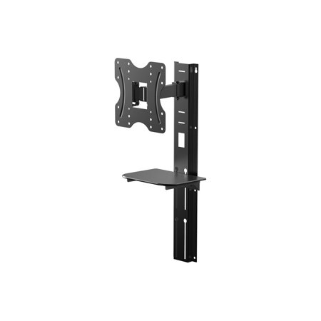Monoprice Full Motion Wall Mount Bracket with height adjustment Support Shelf for Small 24- 42in TVs up to 66
