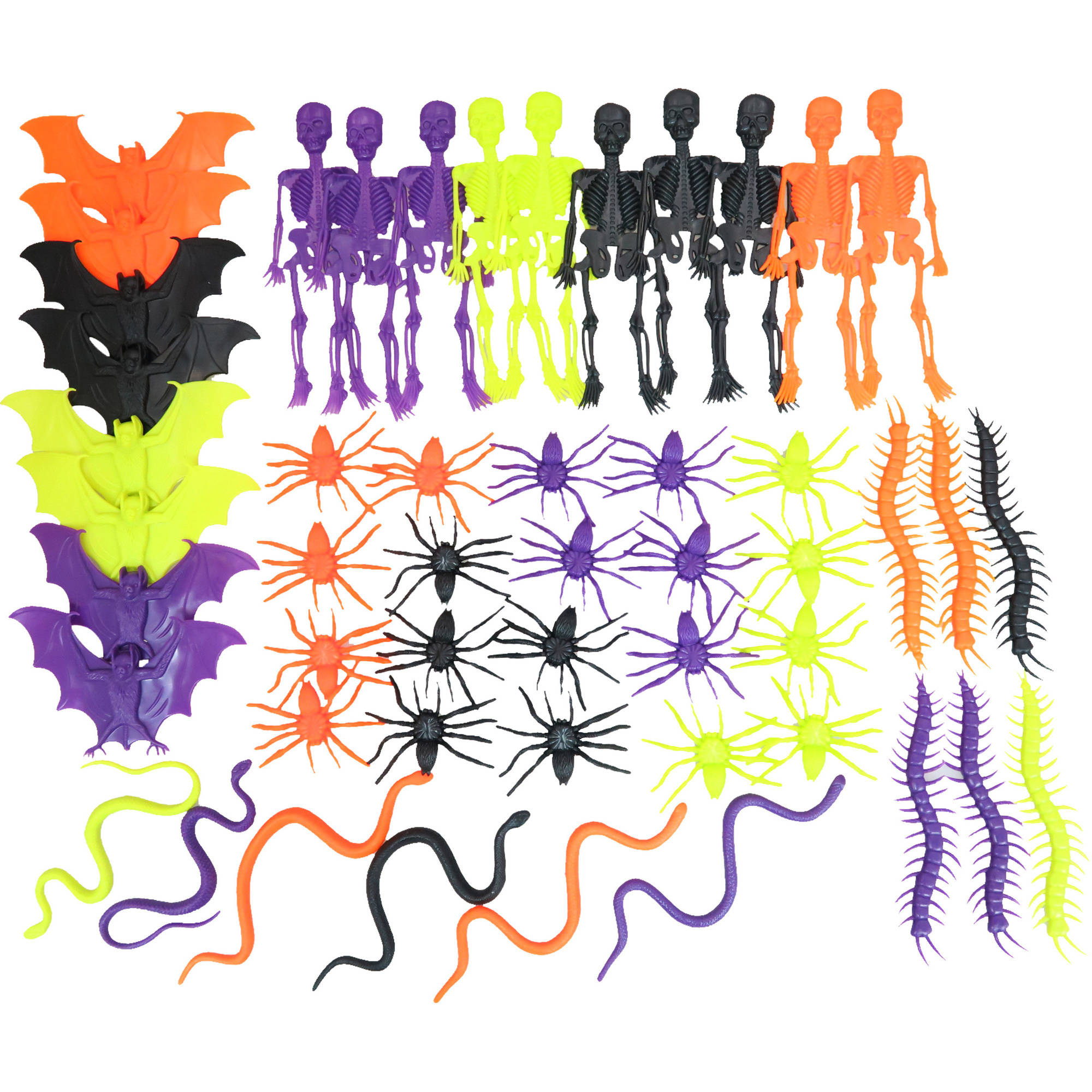 Halloween Creature Value Pack, 50-Count Halloween Decoration