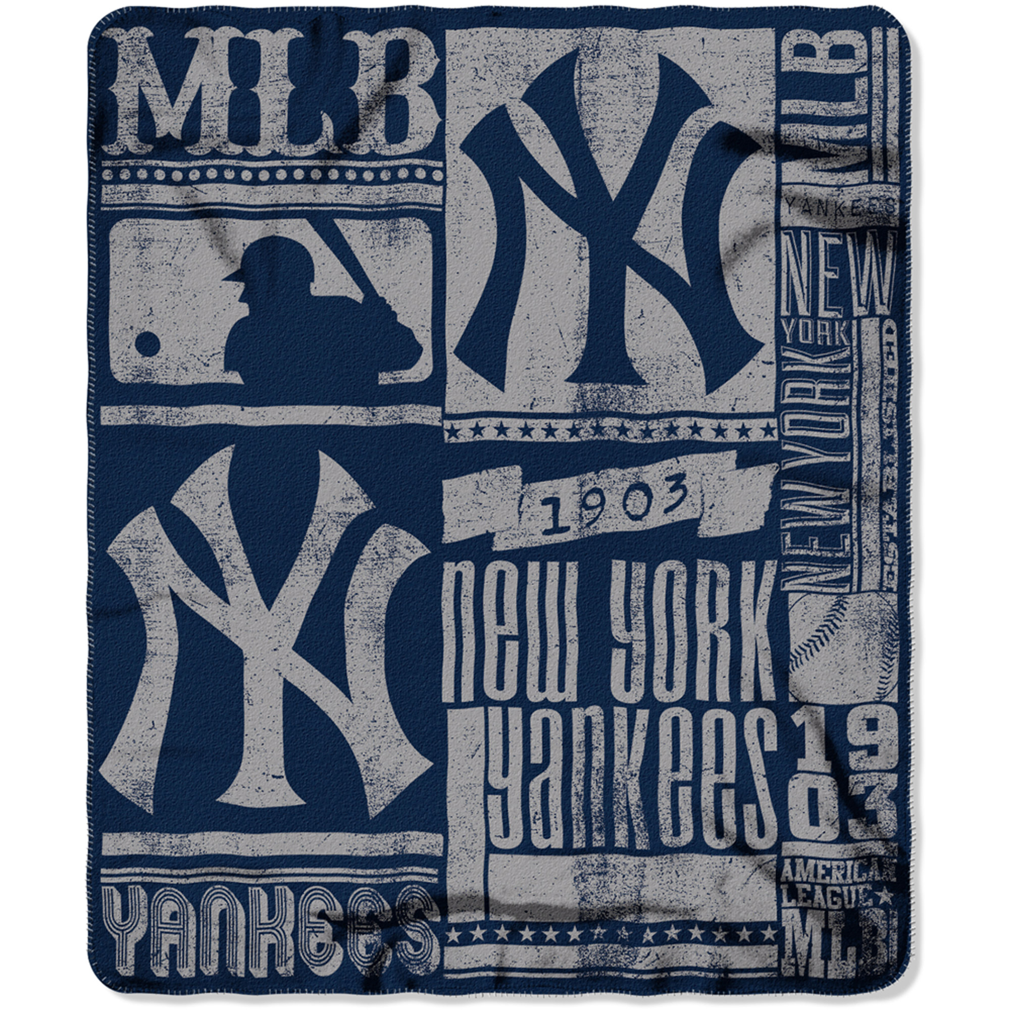 "MLB New York Yankees 50"" x 60"" Fleece Throw"