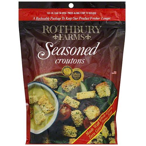 Rothbury Farms Seasoned Croutons, 6 oz (Pack of 12)