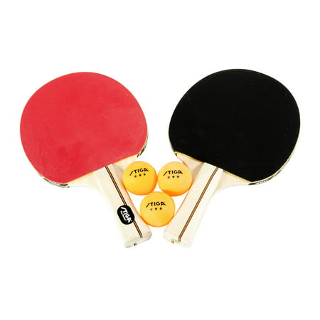 33f2cba4e3 STIGA Performance 2-Player Table Tennis Set Includes Two Rackets and Three  3-Star Balls - Walmart.com