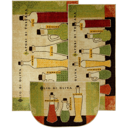 Mohawk Toscana 3 Piece Printed Kitchen Rug Set