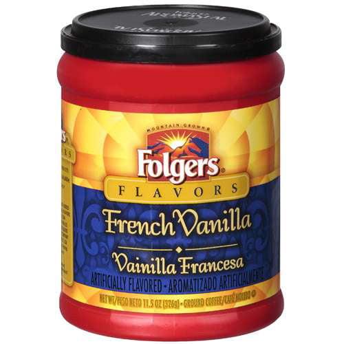 Folgers French Vanilla Ground Coffee, 11.5 oz