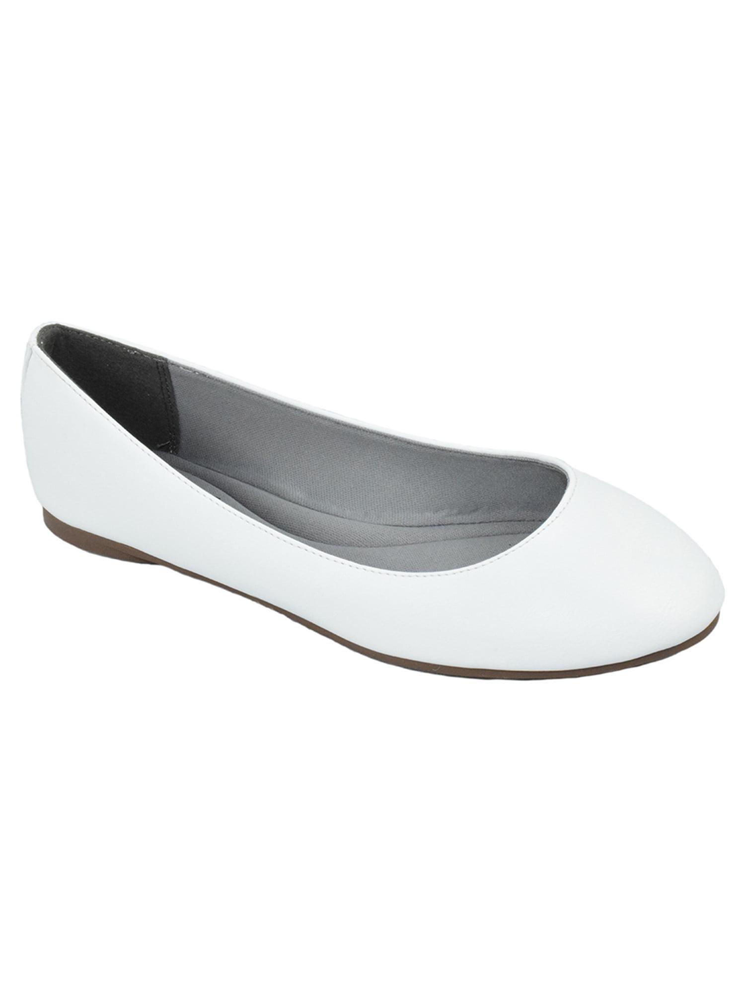 White All Womens Flats - Walmart.com