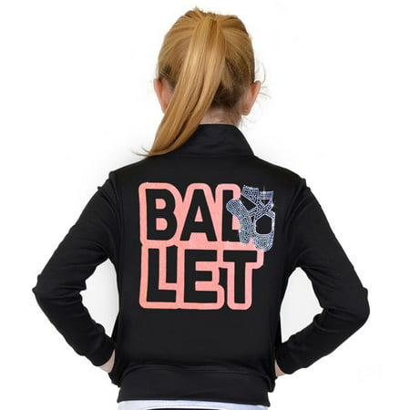 Girl's and Women's Rhinestone Ballet Performance Jacket with Pockets - Coral / Adult Medium (4-6)