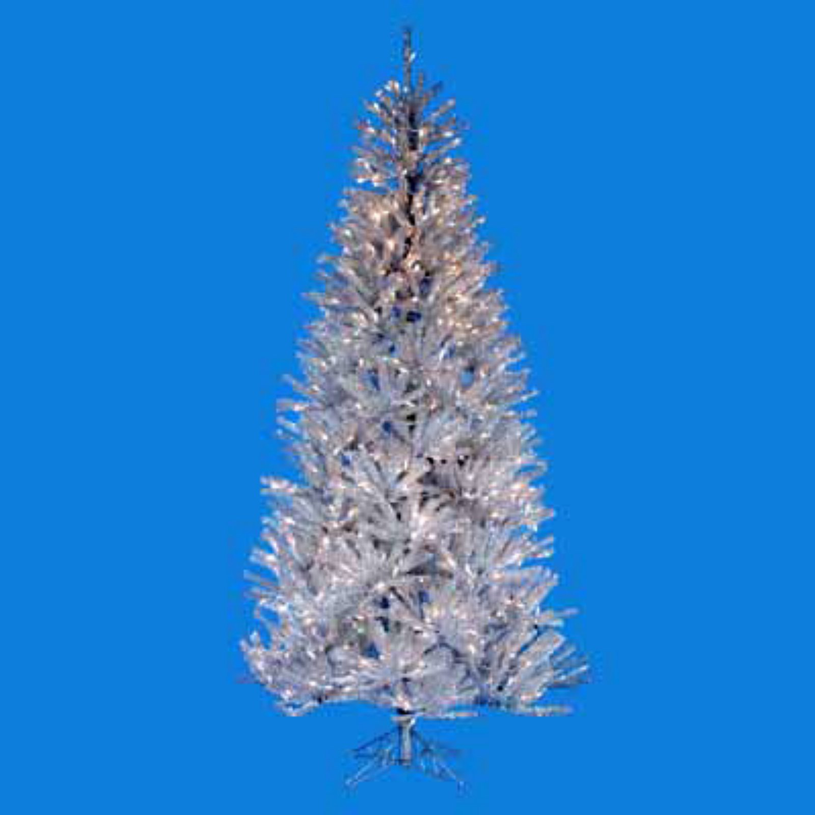 Silver Ice Pre-lit Christmas Tree