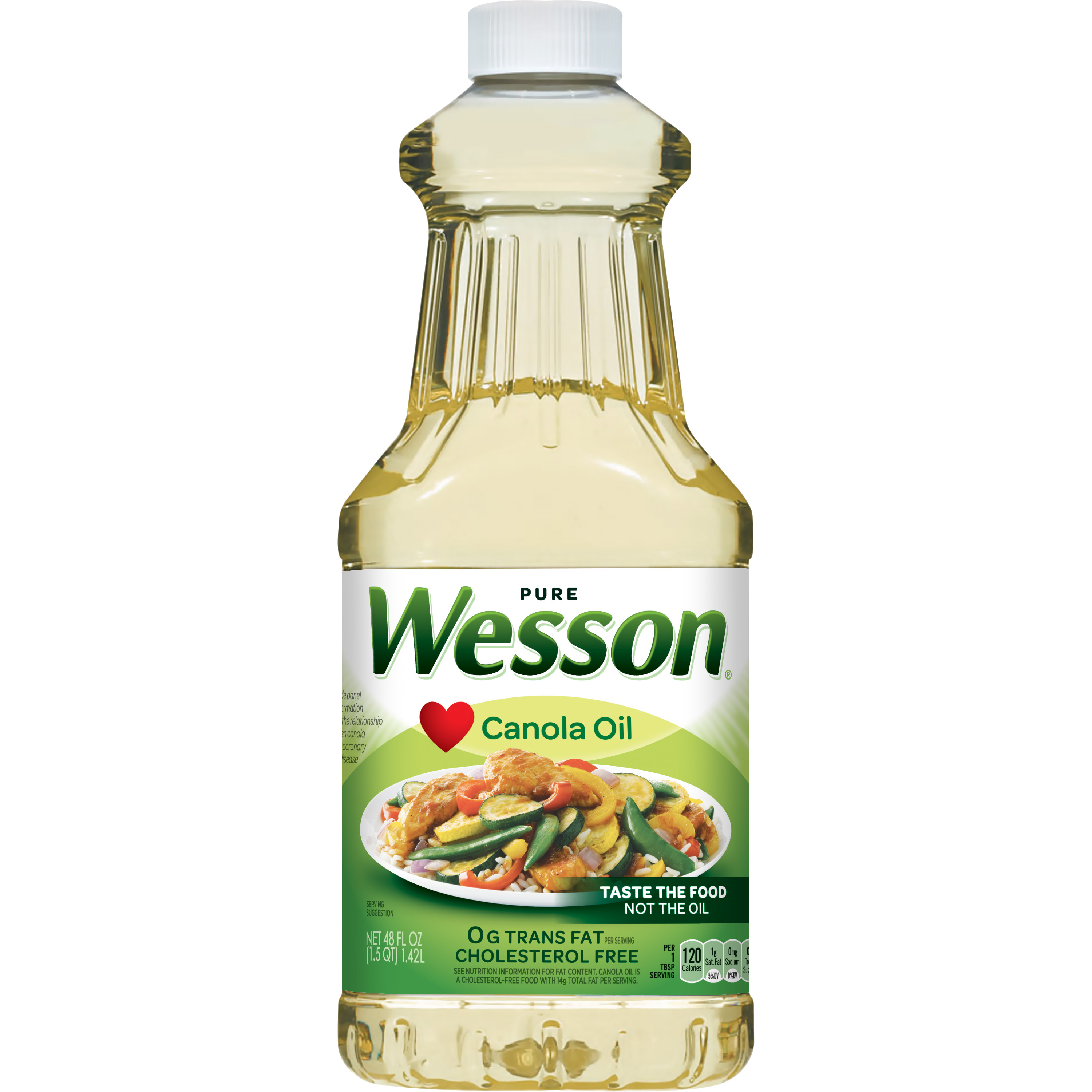 (2 Pack) Wesson Pure Canola Oil, 48 Fl Oz