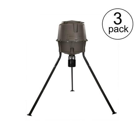 - Moultrie 30 Gal Adjustable Height Quick-Lock Elite Tripod Deer Feeder (3 Pack)