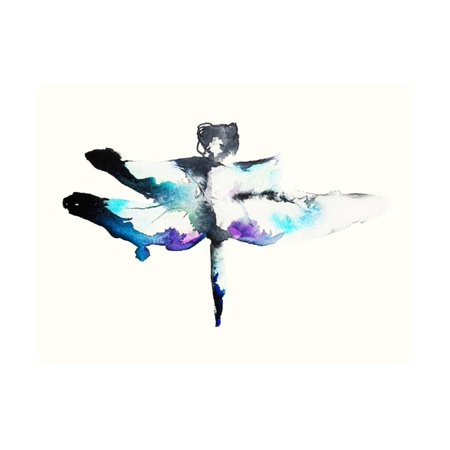Turquoise & Violet Dragonfly Print Wall Art By Karin Johannesson ()