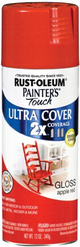Rust-Oleum 249124 Painters Touch Multi Purpose Spray Paint, 12-Ounce, Apple Red Multi-Colored