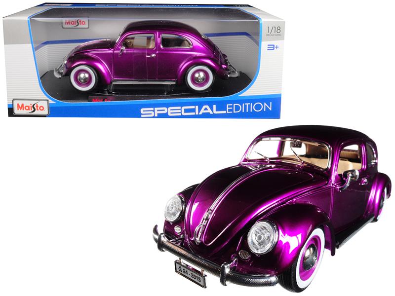 1955 Volkswagen Kafer Beetle Purple 1 18 Diecast Model Car by Maisto by Maisto