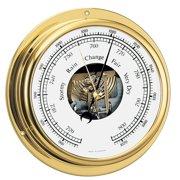"""Barigo Viking Series Ship's Barometer - Brass Housing - 5"""" Dial 111MS"""